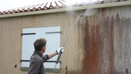 Comment nettoyer une fa ade en cr pi au karcher for Nettoyer une facade a l eau de javel